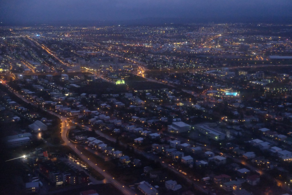 View of Reykjavik from the air