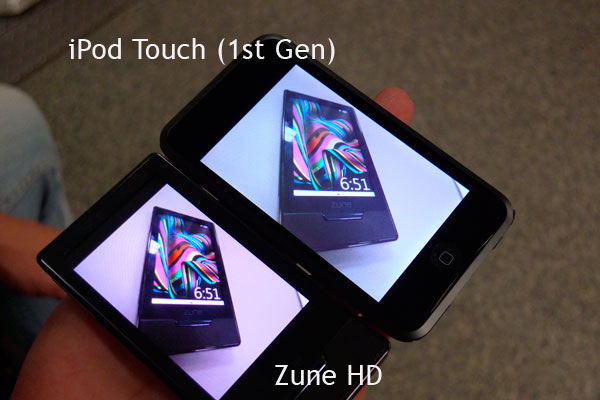 Zune HD vs iPod Touch #1