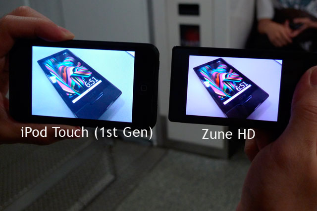 Zune HD vs iPod Touch #2